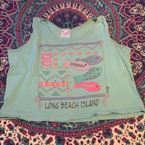 Long Beach Island Crop Top